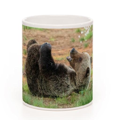 Kellivä karhu muki posliinia 3dl