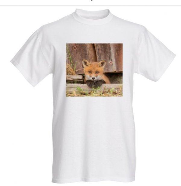 Ketunpoika t-paita valkoinen L Fruit of Loom