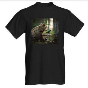 Karhu ja korppi t-paita musta L Fruit of Loom