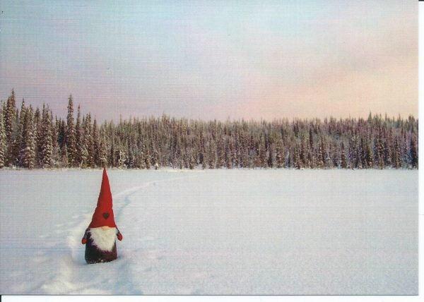 Tontun polku joulukortti