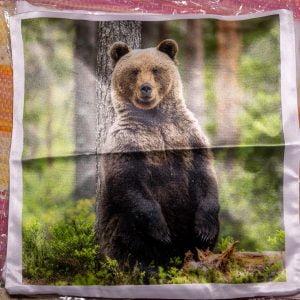 istuva karhu tyyny